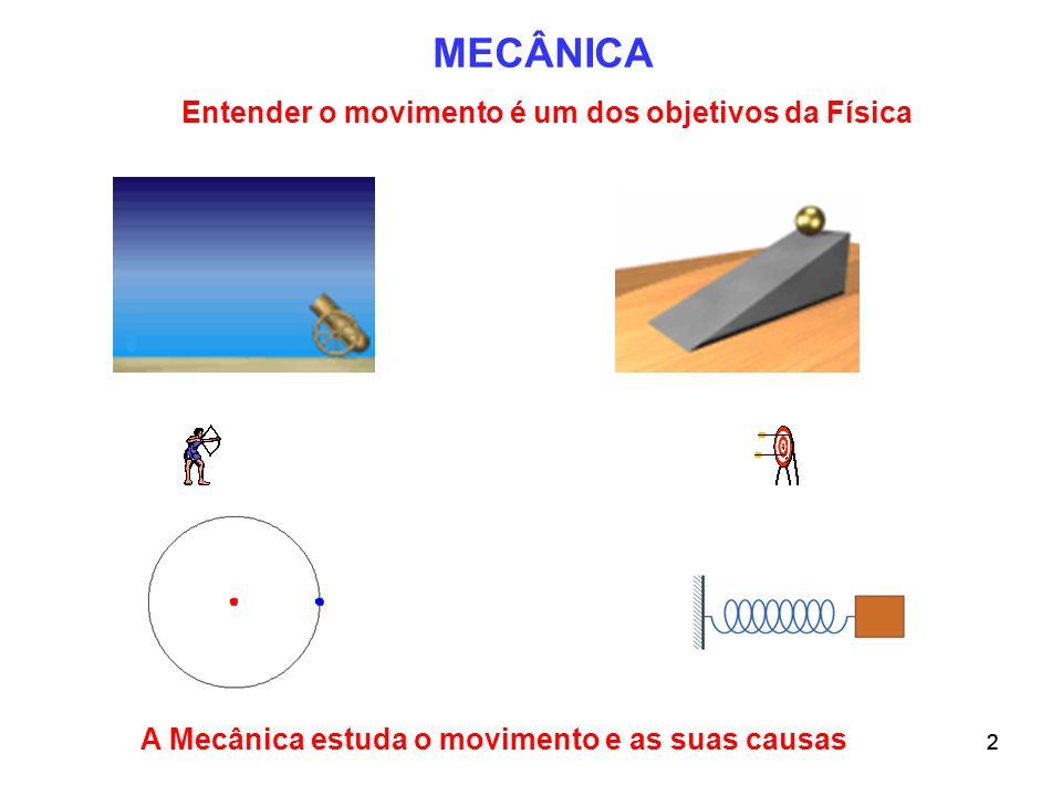 Entender o movimento é um dos objetivos da Física