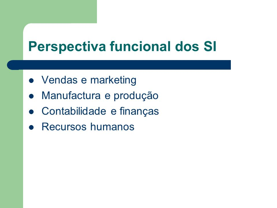 Perspectiva funcional dos SI