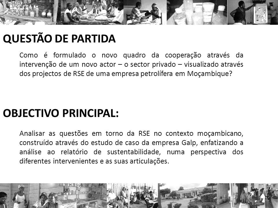 QUESTÃO DE PARTIDA OBJECTIVO PRINCIPAL: