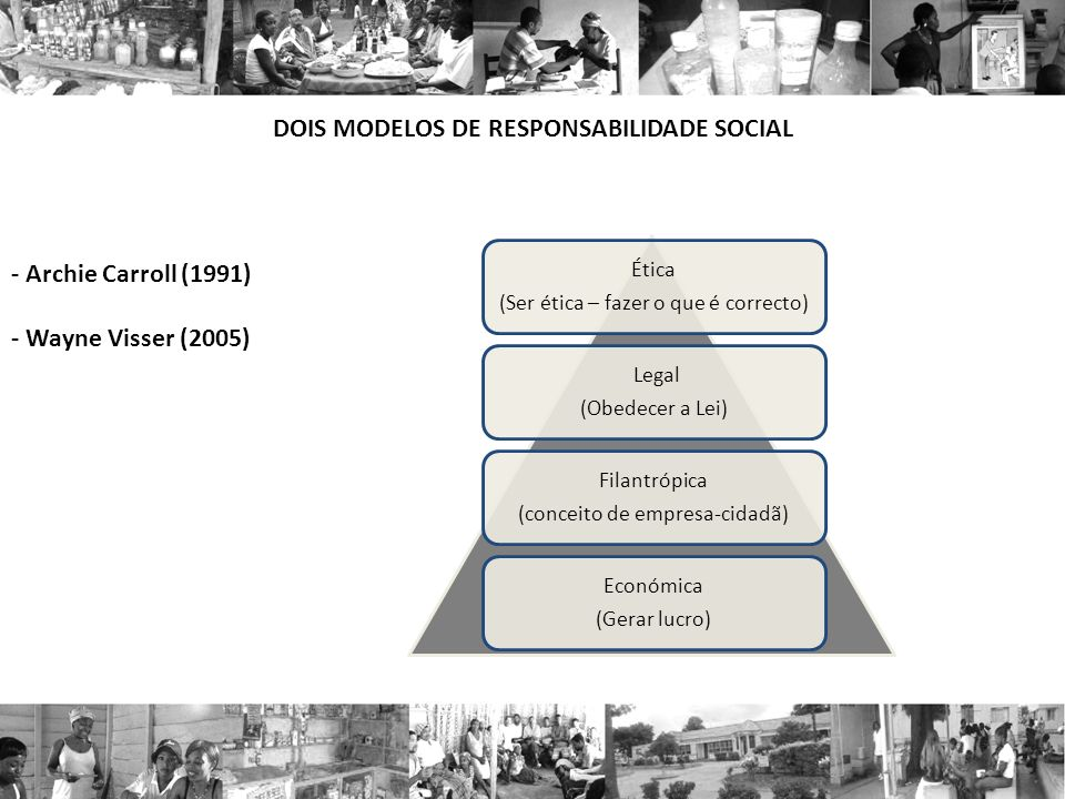 DOIS MODELOS DE RESPONSABILIDADE SOCIAL