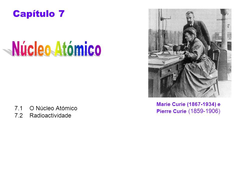 Núcleo Atómico Capítulo 7 7.1 O Núcleo Atómico 7.2 Radioactividade