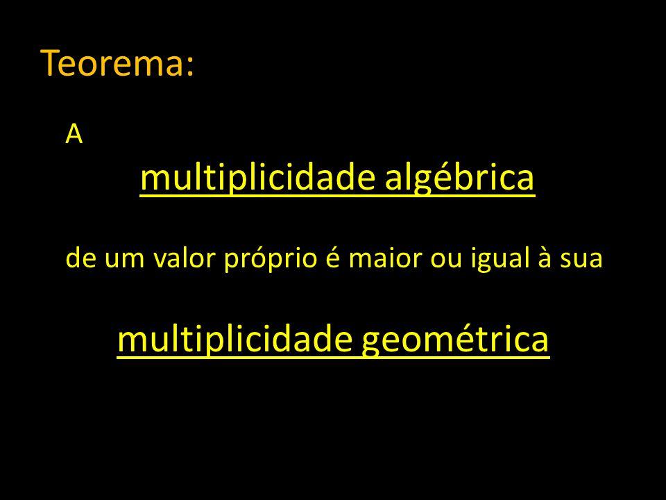 multiplicidade geométrica