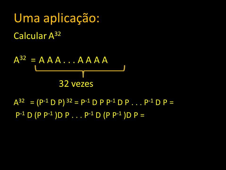 Uma aplicação: Calcular A32 A32 = A A A . . . A A A A 32 vezes