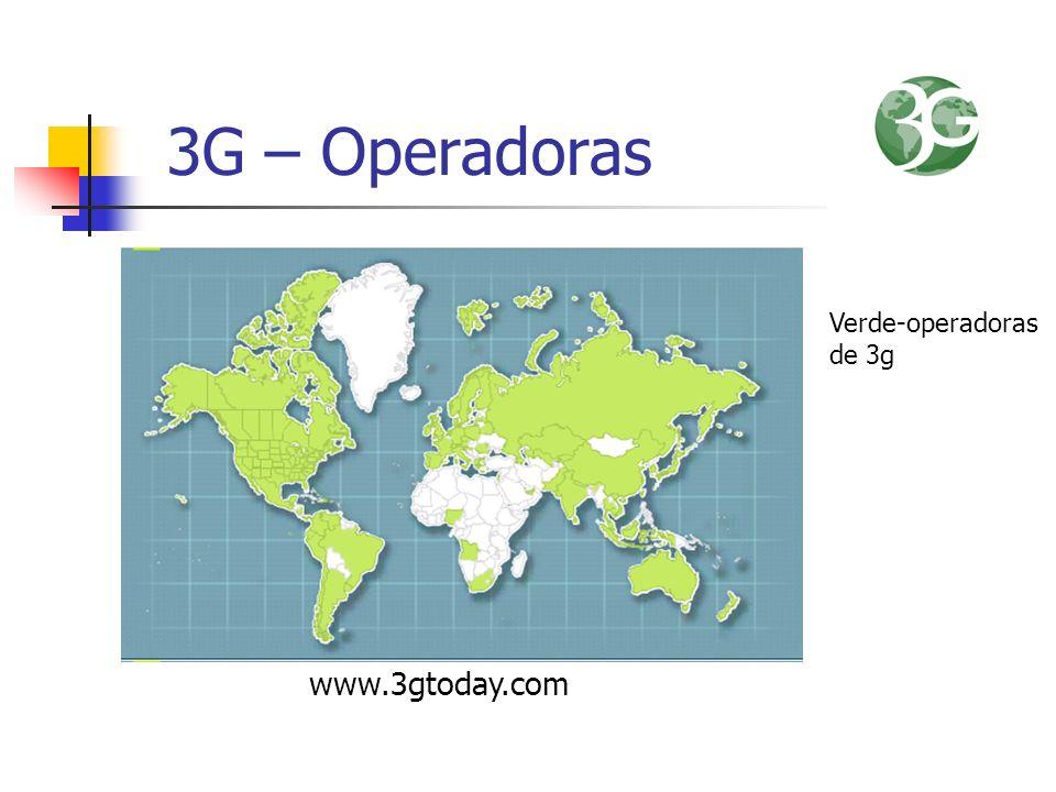 3G – Operadoras Verde-operadoras de 3g www.3gtoday.com