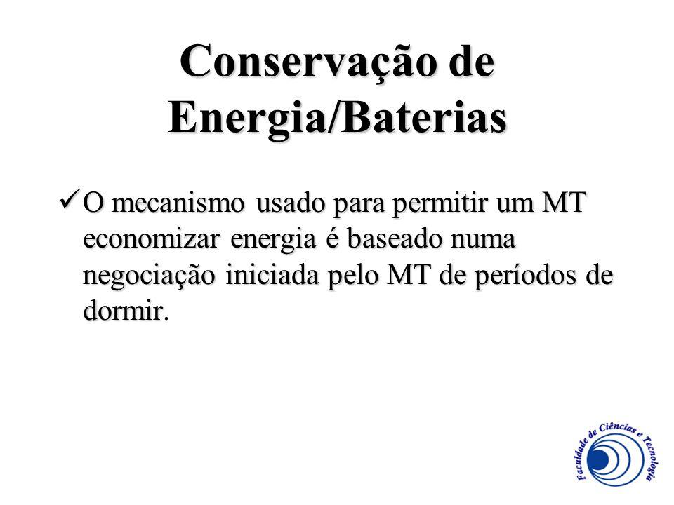 Conservação de Energia/Baterias