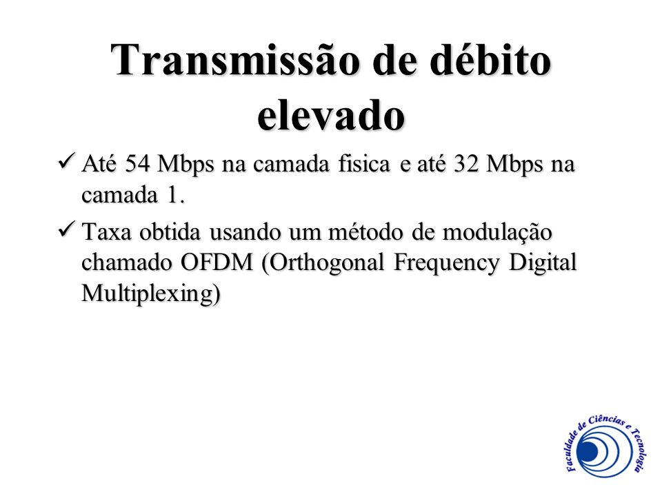 Transmissão de débito elevado