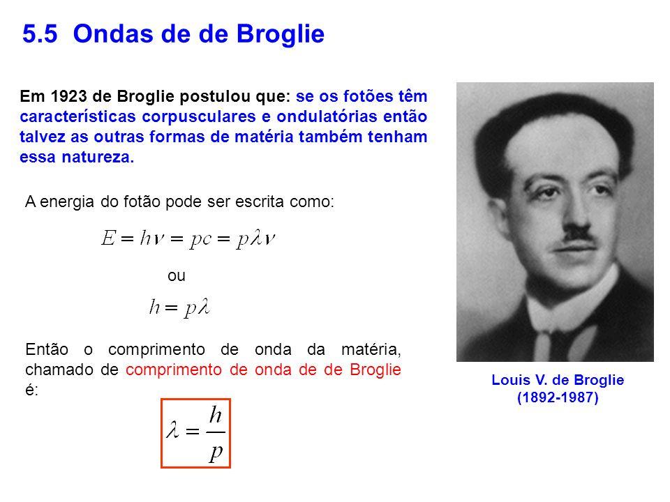 5.5 Ondas de de Broglie