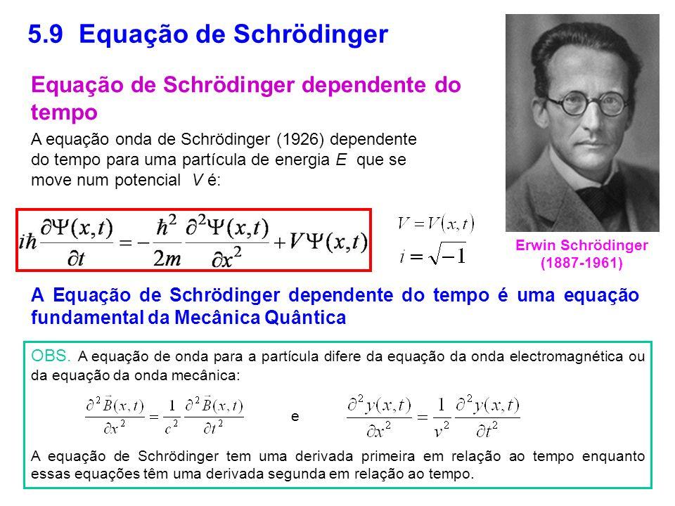 5.9 Equação de Schrödinger
