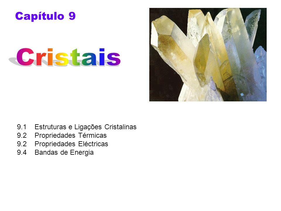 Cristais Capítulo 9 9.1 Estruturas e Ligações Cristalinas