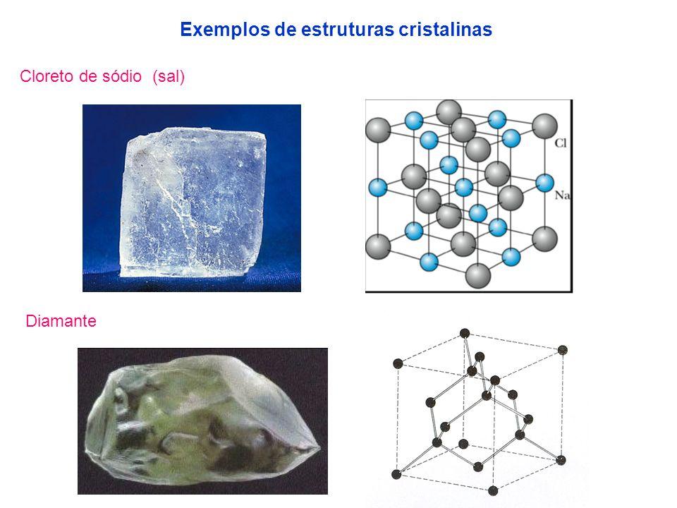Exemplos de estruturas cristalinas
