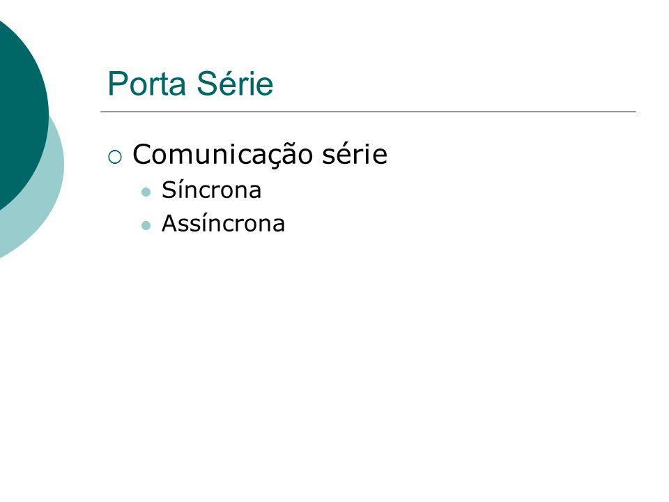 Porta Série Comunicação série Síncrona Assíncrona