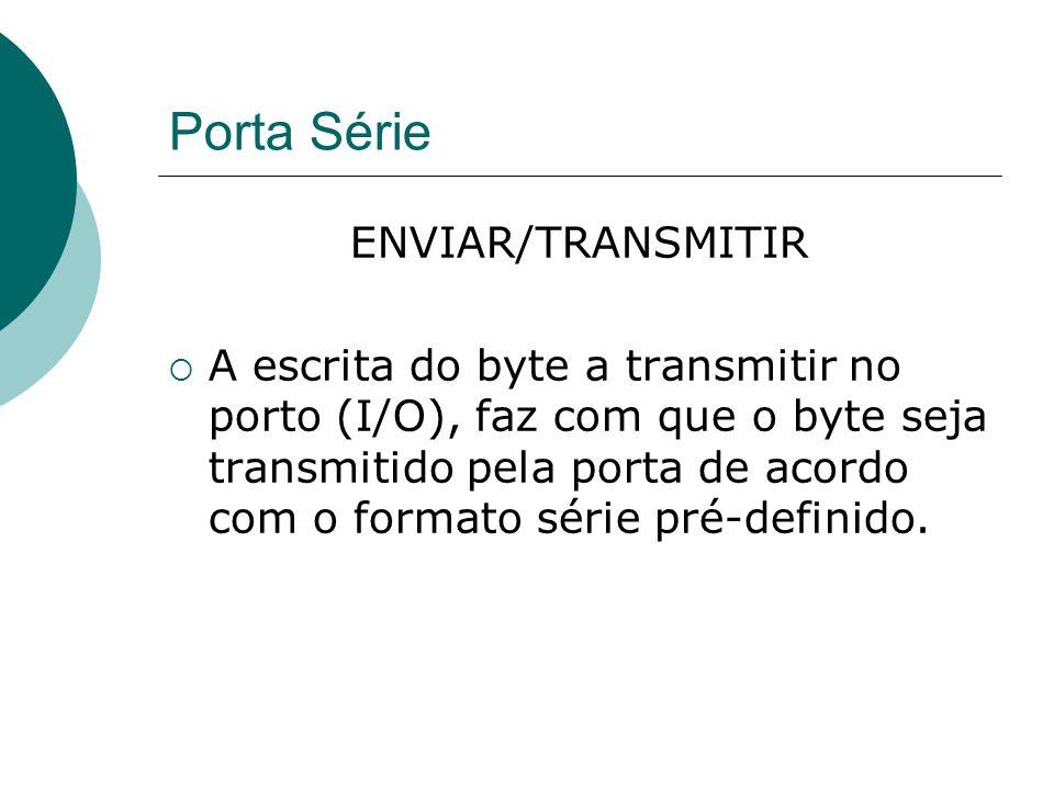 Porta Série ENVIAR/TRANSMITIR