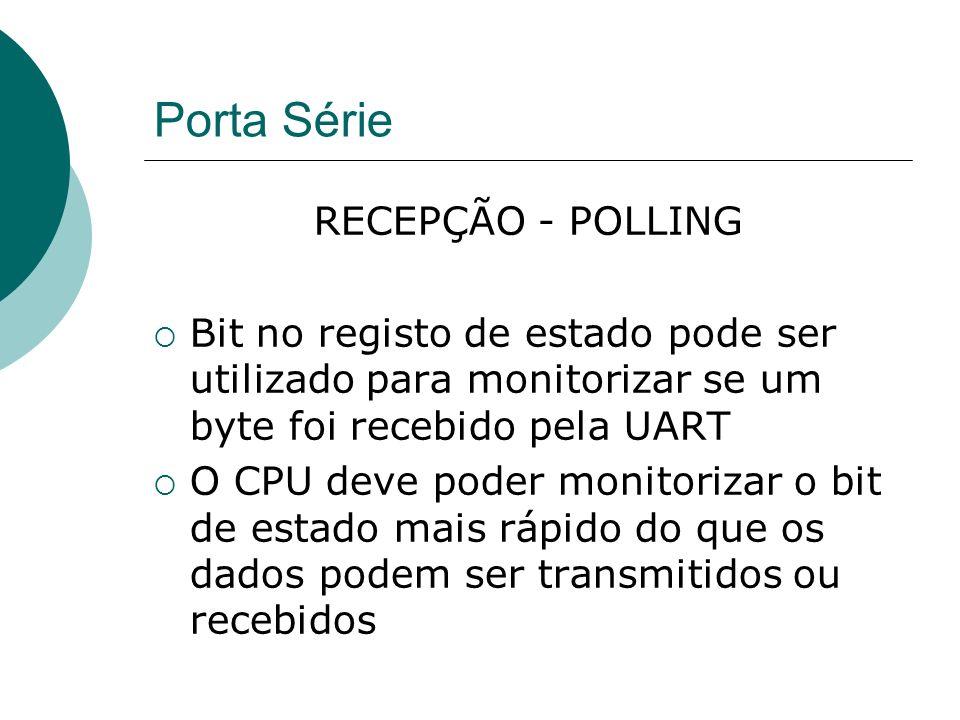 Porta Série RECEPÇÃO - POLLING