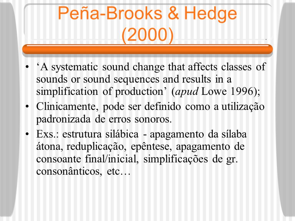 Peña-Brooks & Hedge (2000)