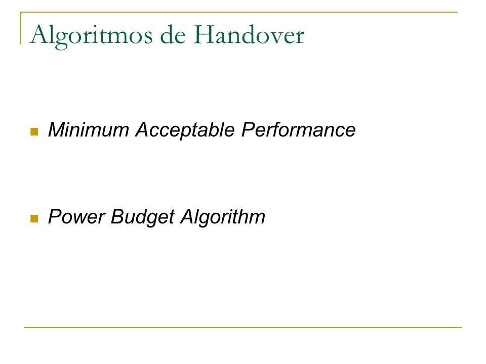 Algoritmos de Handover
