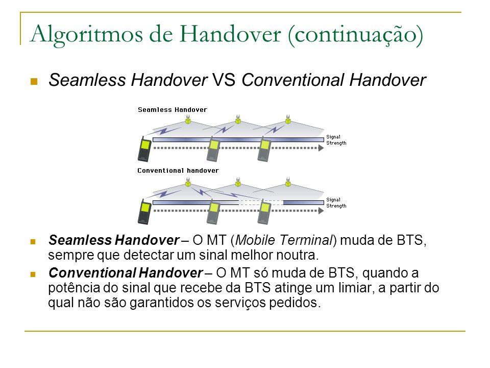Algoritmos de Handover (continuação)