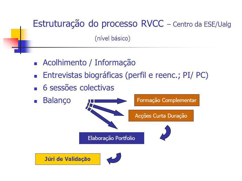 Estruturação do processo RVCC – Centro da ESE/Ualg