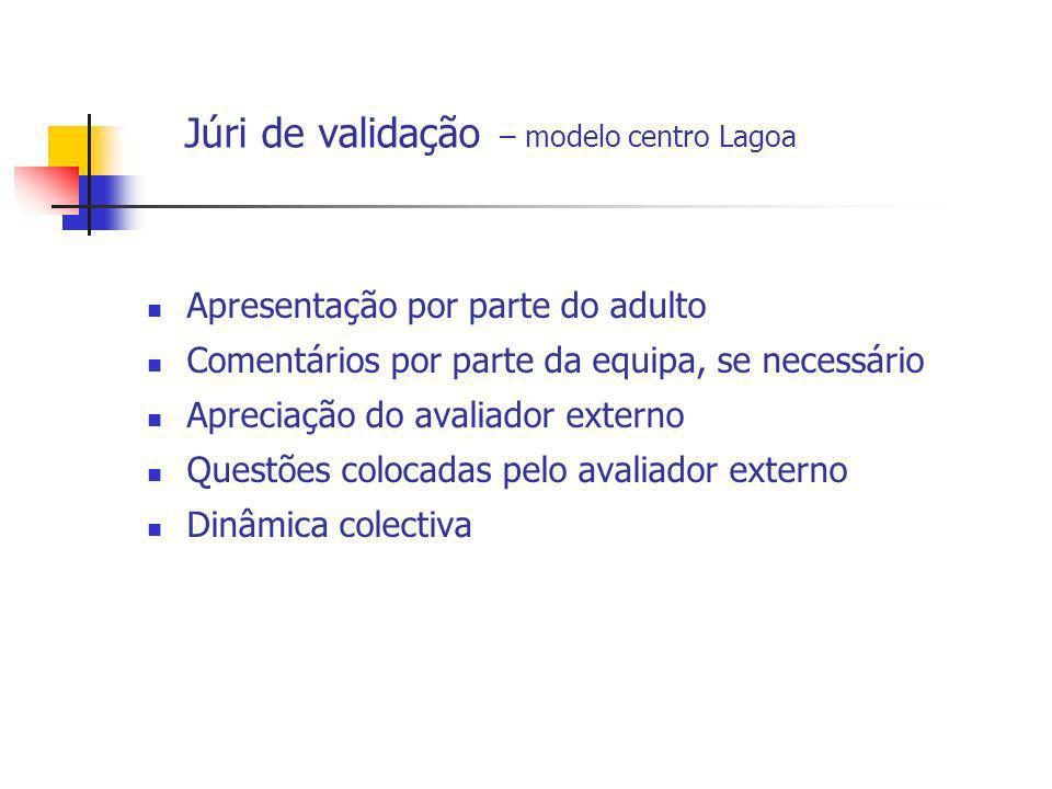Júri de validação – modelo centro Lagoa