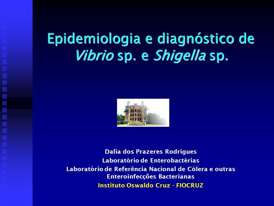 Epidemiologia e diagnóstico de Vibrio sp. e Shigella sp.