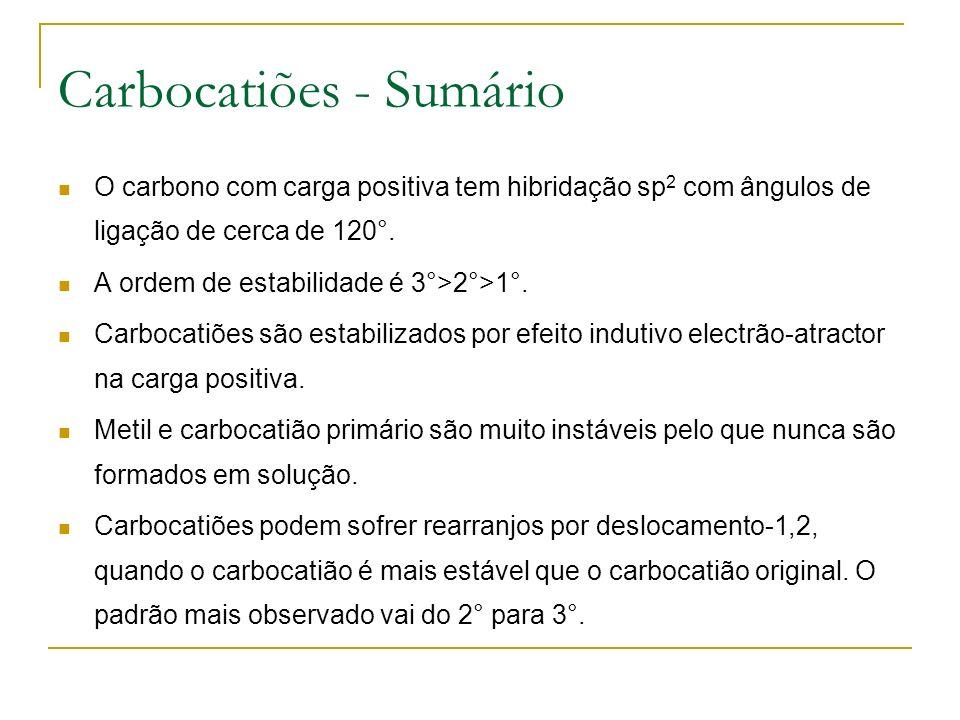 Carbocatiões - Sumário