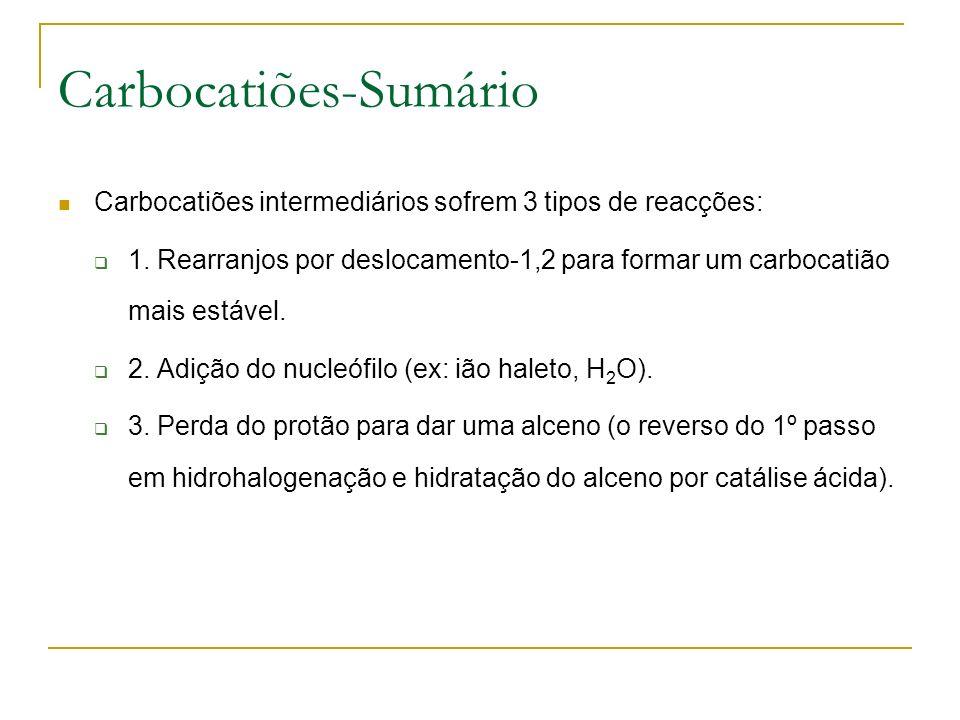 Carbocatiões-Sumário