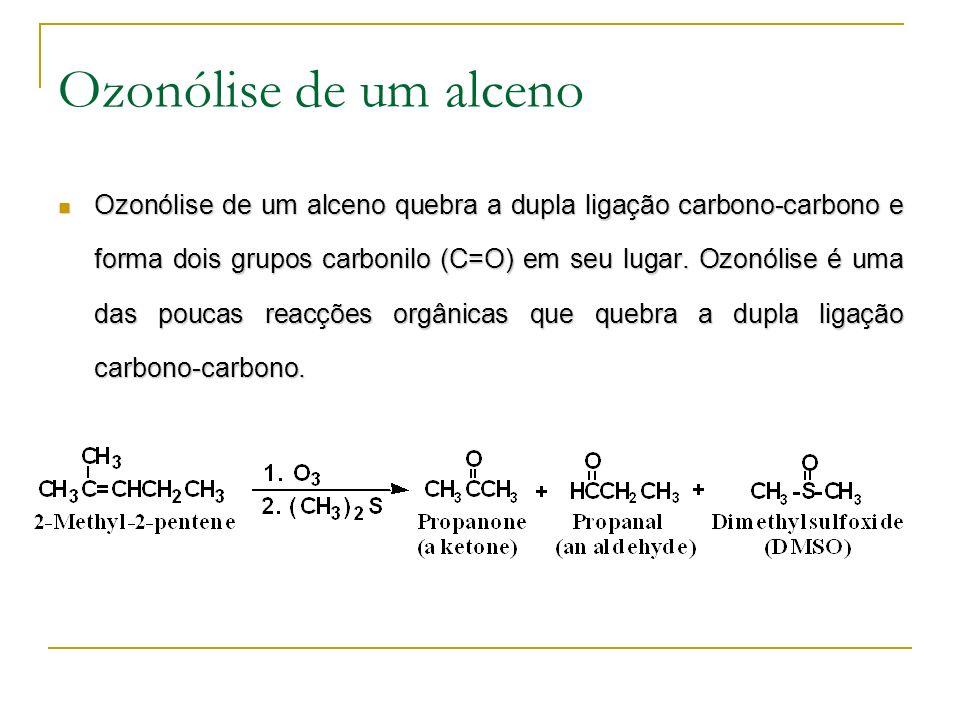 Ozonólise de um alceno