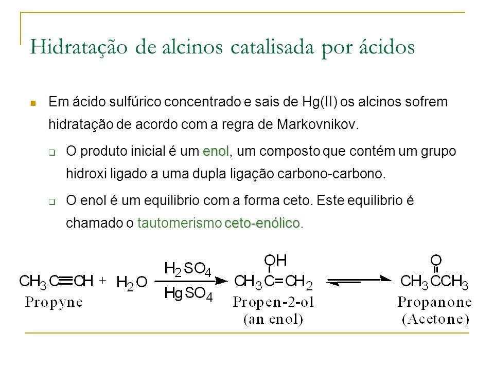 Hidratação de alcinos catalisada por ácidos