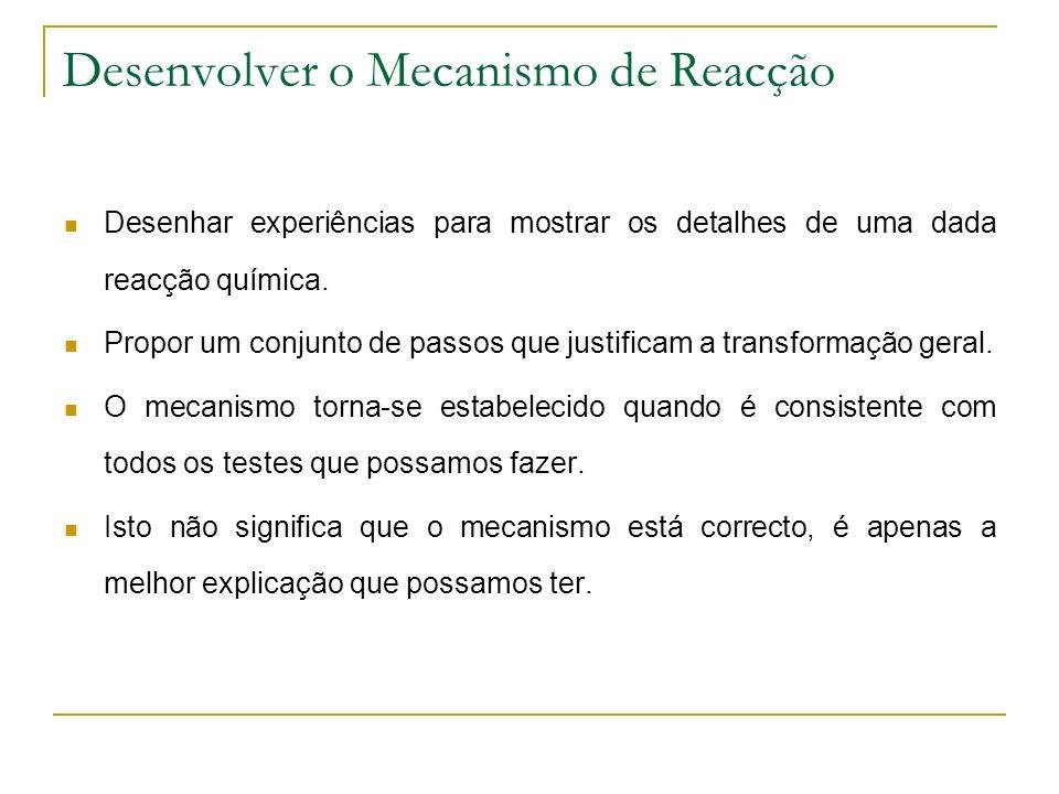 Desenvolver o Mecanismo de Reacção