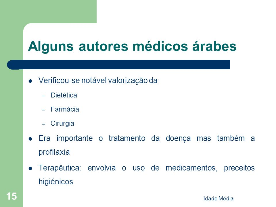 Alguns autores médicos árabes
