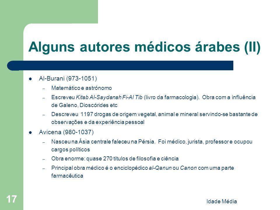 Alguns autores médicos árabes (II)