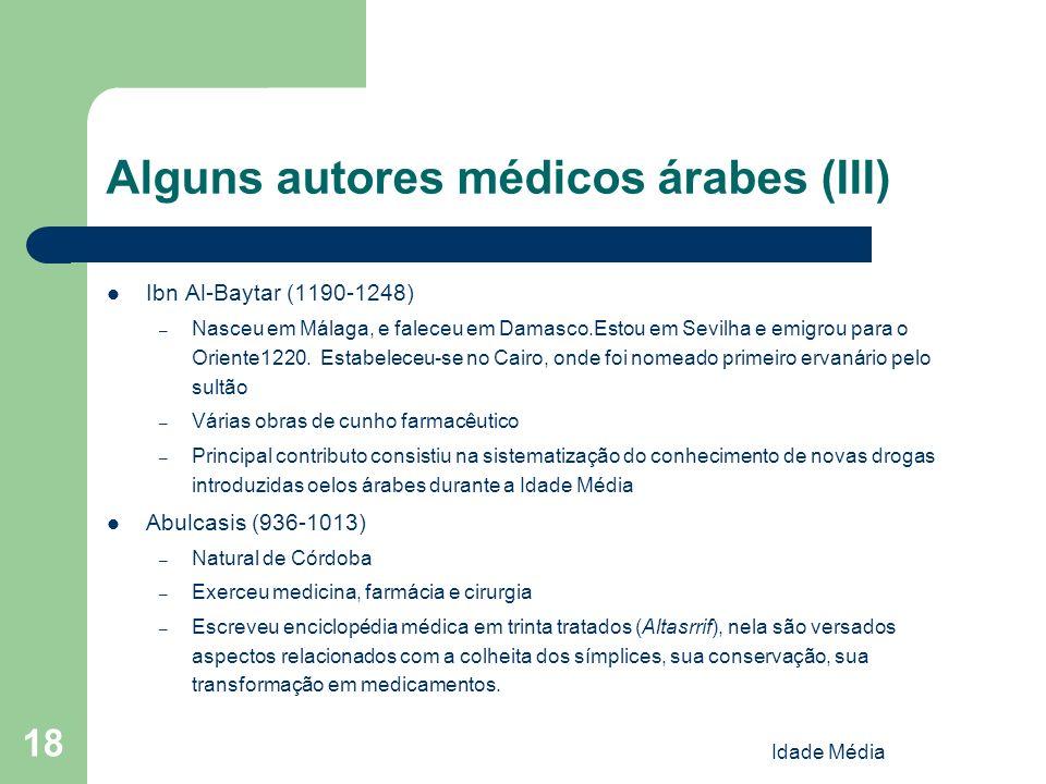 Alguns autores médicos árabes (III)