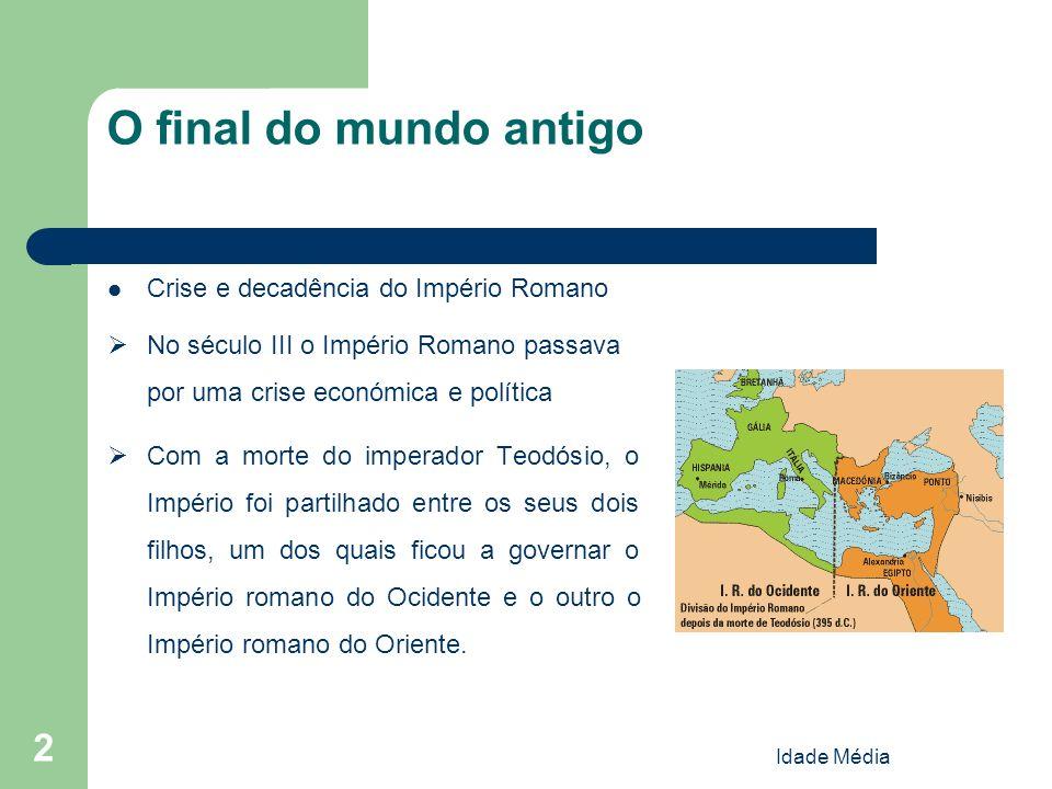 O final do mundo antigo Crise e decadência do Império Romano