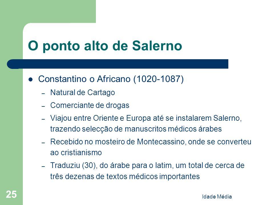 O ponto alto de Salerno Constantino o Africano (1020-1087)