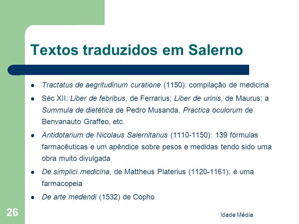 Textos traduzidos em Salerno