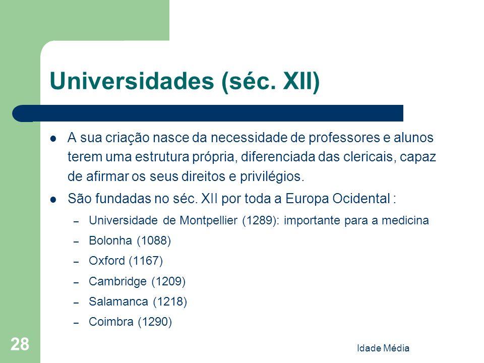 Universidades (séc. XII)