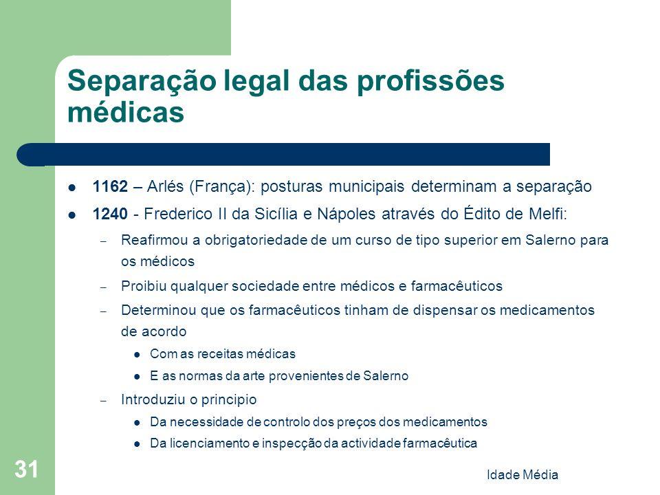 Separação legal das profissões médicas