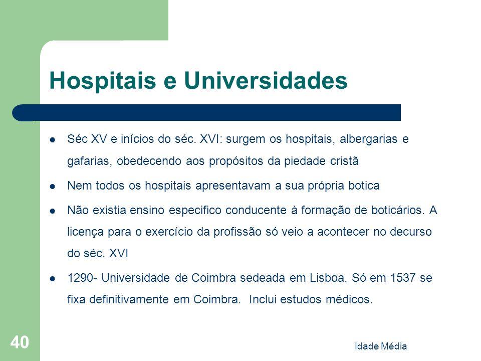 Hospitais e Universidades