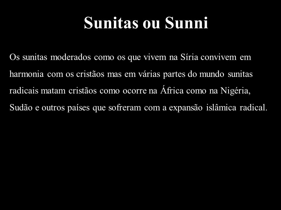 Sunitas ou Sunni