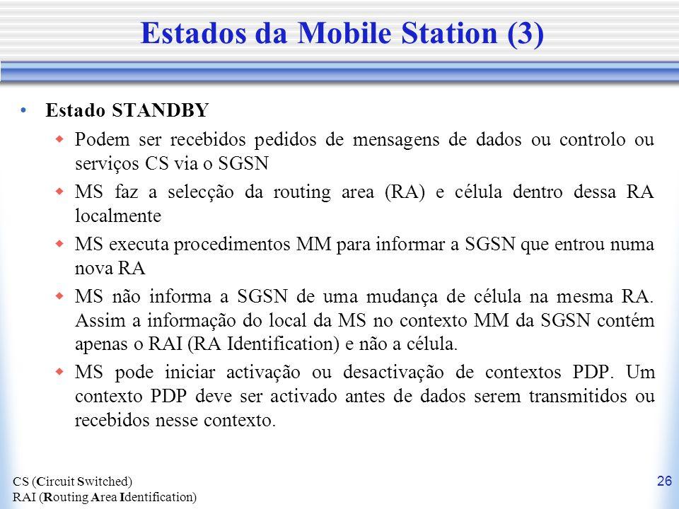 Estados da Mobile Station (3)