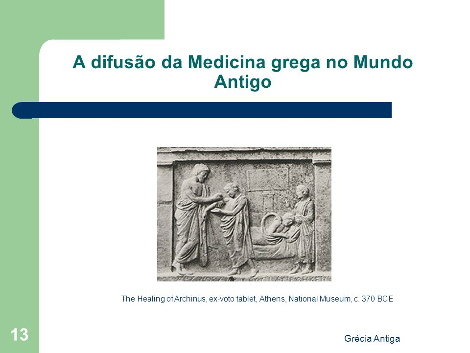 A difusão da Medicina grega no Mundo Antigo