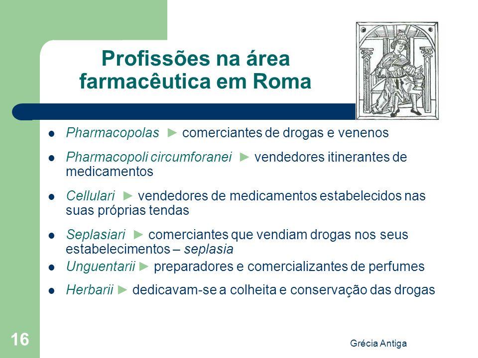 Profissões na área farmacêutica em Roma