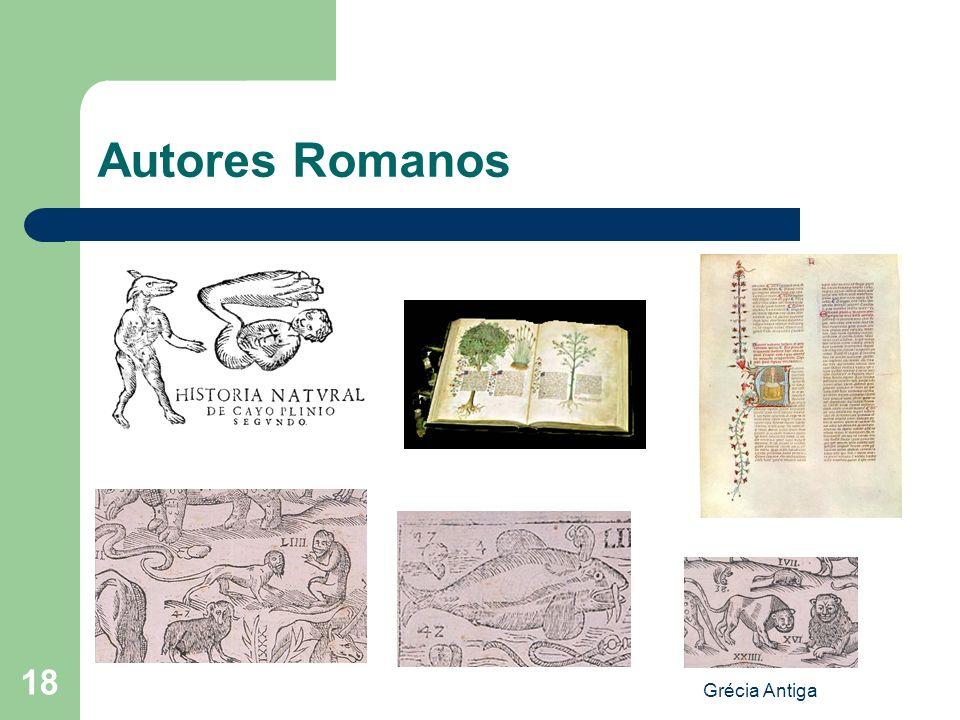 Autores Romanos Grécia Antiga