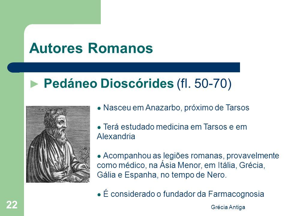 Autores Romanos ► Pedáneo Dioscórides (fl. 50-70)