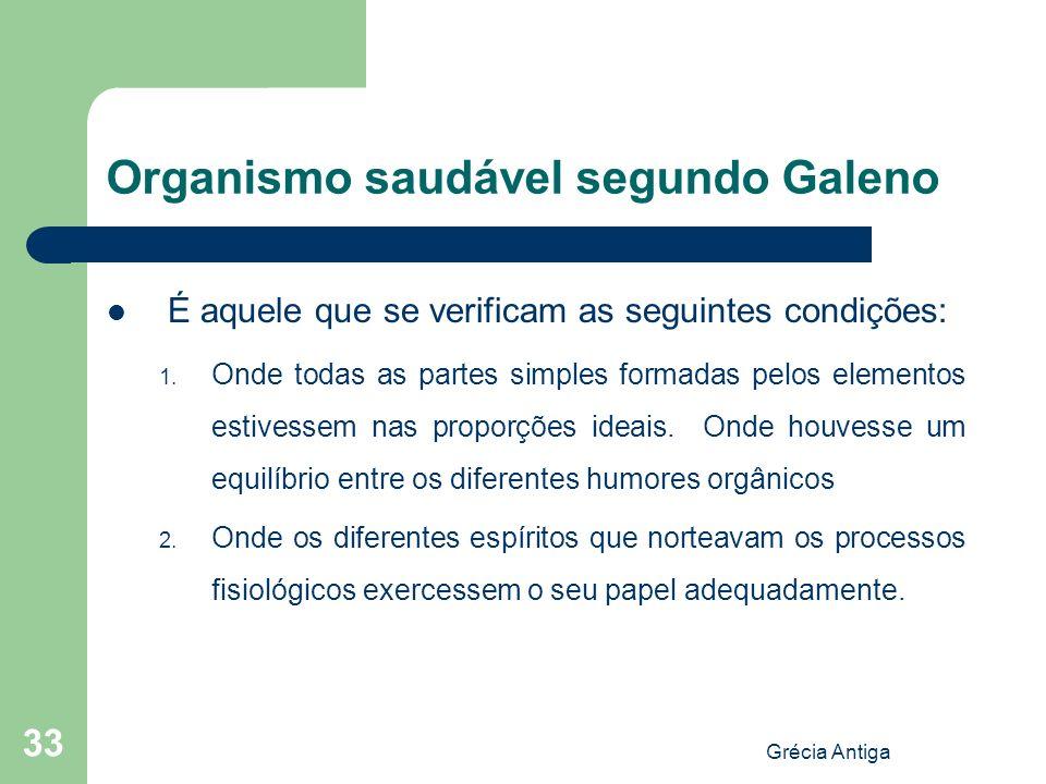 Organismo saudável segundo Galeno