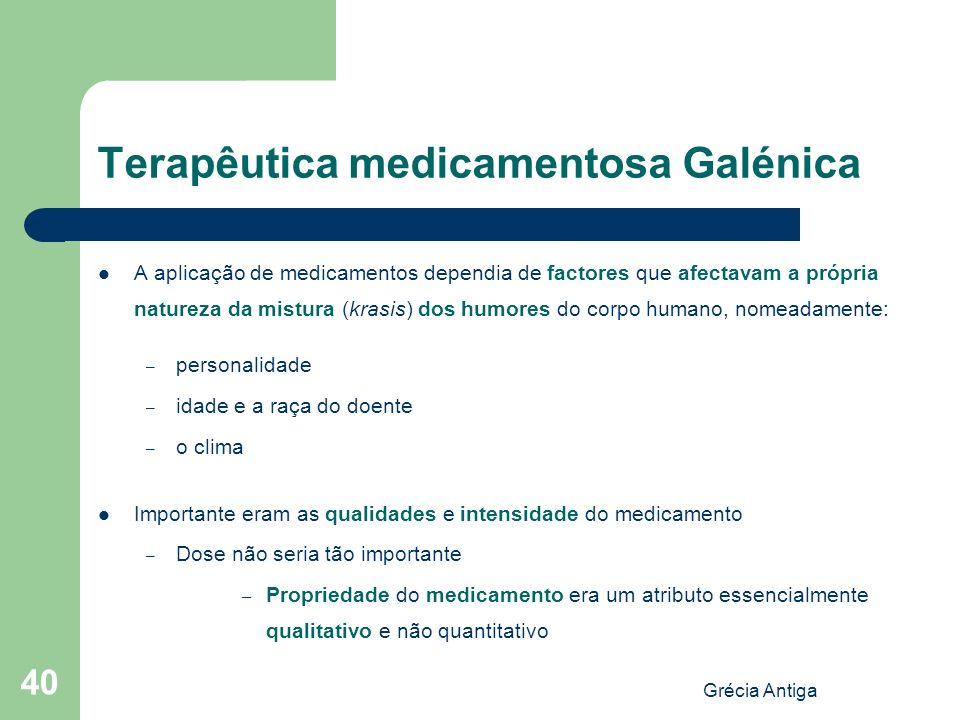 Terapêutica medicamentosa Galénica