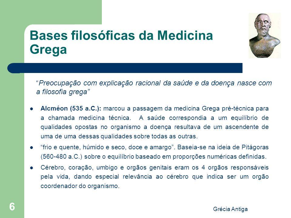 Bases filosóficas da Medicina Grega