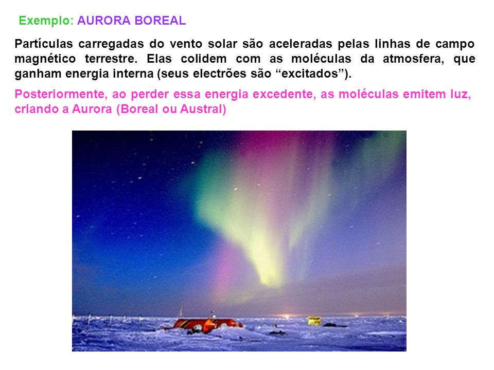 Exemplo: AURORA BOREAL