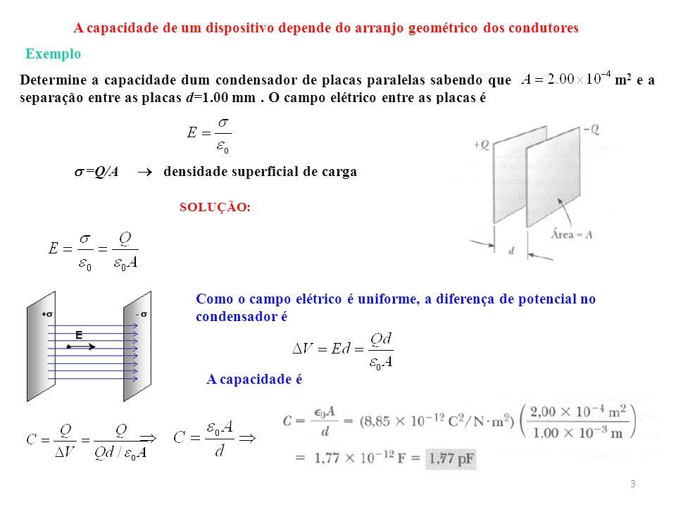  densidade superficial de carga