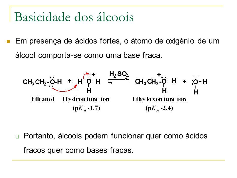 Basicidade dos álcoois