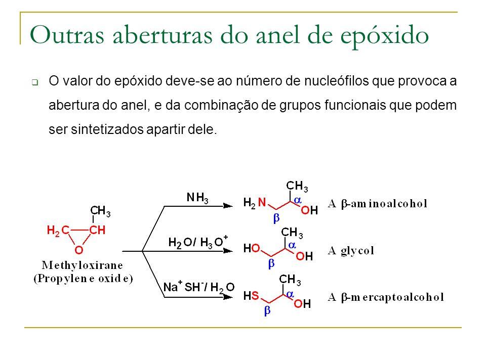 Outras aberturas do anel de epóxido